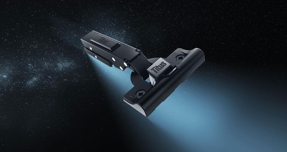 TitusPlus T Type Hinge on Space Scape Background