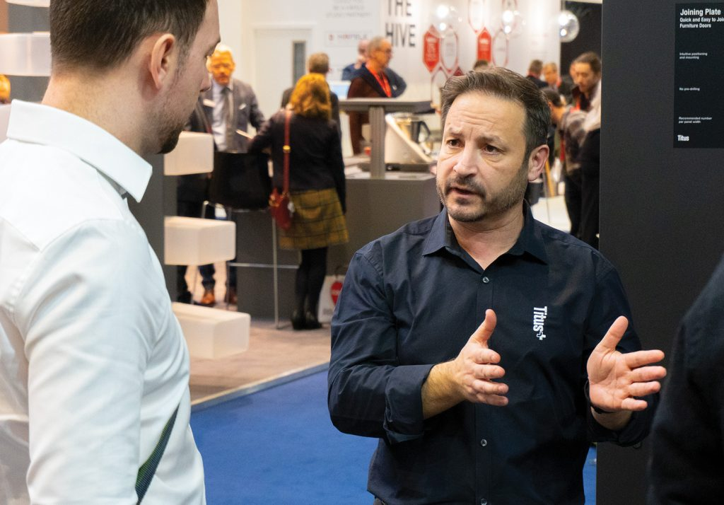 TitusPlus explaining products at this years KBB